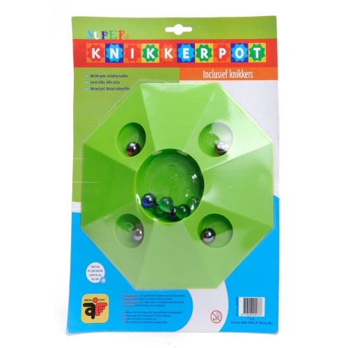 Angel Toys Knikkerpot Super 22cm Groen Inclusief 10 Knikkers