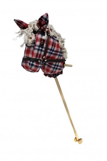 Angel Toys Stokpaardje Met Geluid Schotse Ruit