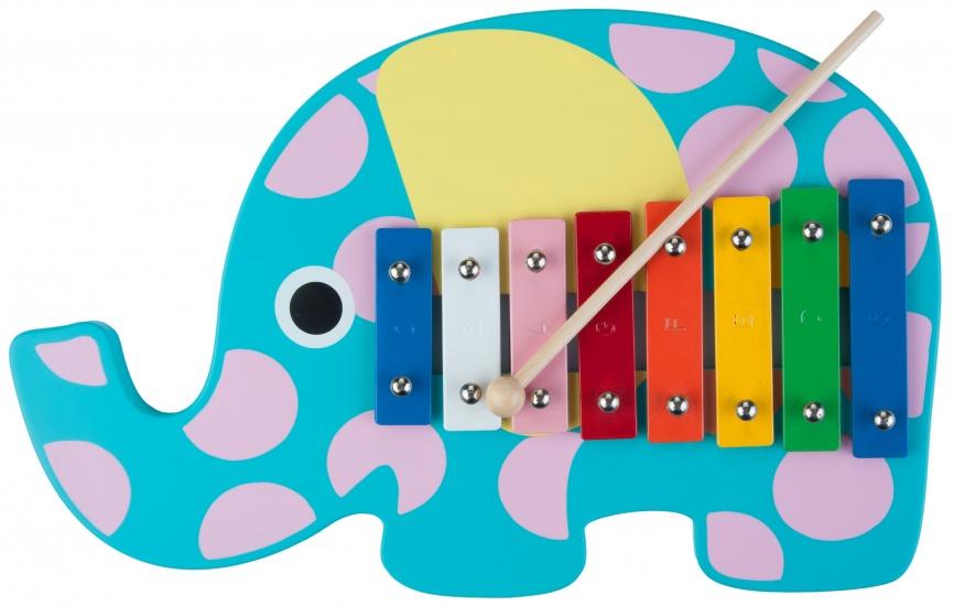 Angel Toys Xylofoon olifant blauw