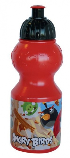 Angry Birds Bidon kunststof 350 ml rood