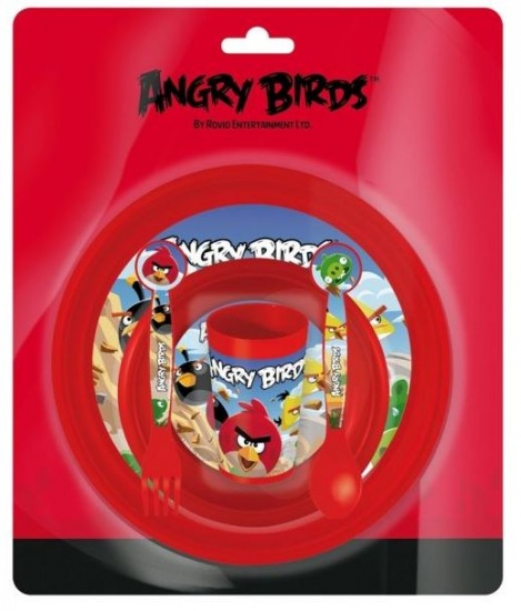 Angry Birds Lunchset kunststof 5 delig rood