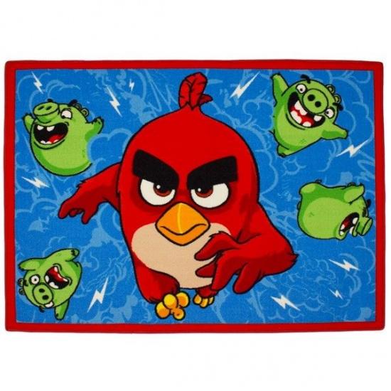 Angry Birds speelkleed rood/blauw 95 x 133 cm