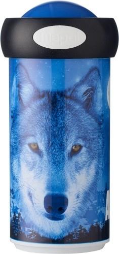 Rosti Mepal Animal Planet Schoolbeker wolf blauw