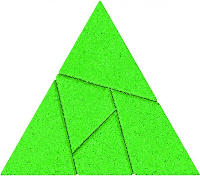 Anker breinbreker puzzel Driehoek 7,5 cm steen groen 5 delig
