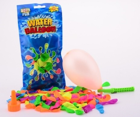 Johntoy Aqua Fun zak met 100 neon waterballonnen
