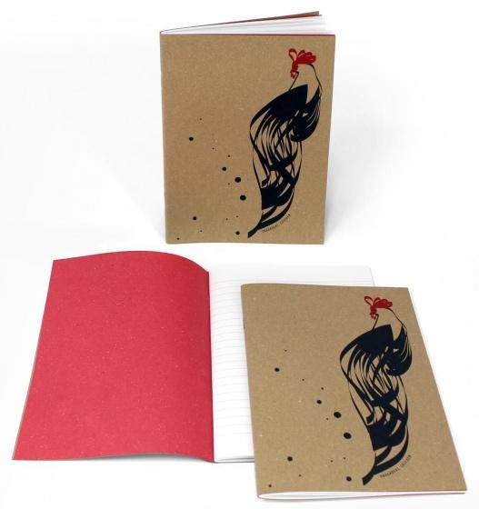Arbos schrift kip leren kaft lichtbruin 15x21 cm kopen