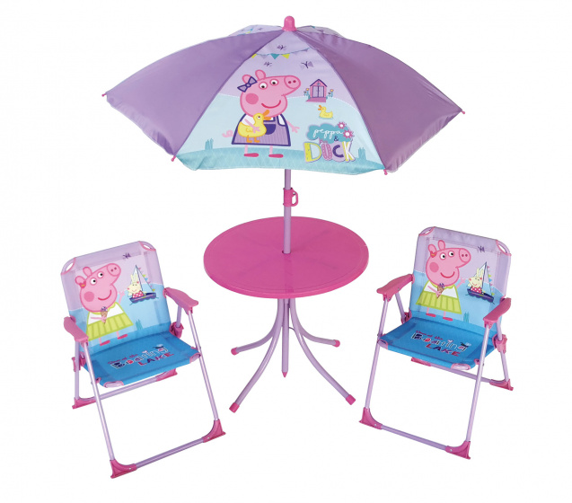 Arditex campingset Peppa Pig junior staal/polyester roze 4 delig