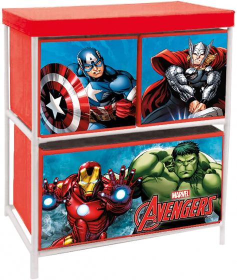 Arditex opbergkast Avengers 60x53 cm aluminium-polyester rood