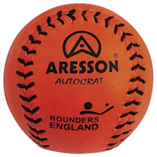 Aresson rounders bal Autocrat 19,5 cm leer oranje