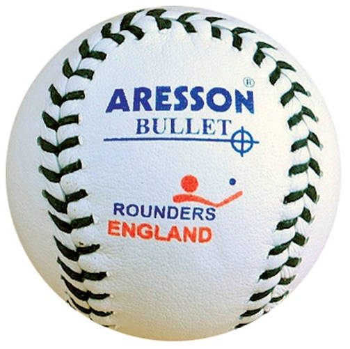 Aresson rounders bal Bullet 19,5 cm leer wit