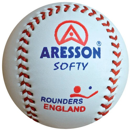 Aresson rounders bal Softy 19 cm leer wit