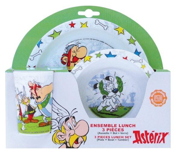 Asterix & Obelix Lunchset kunststof 3 delig wit