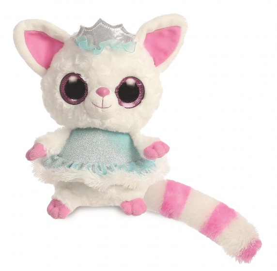 Aurora knuffel ijsprinses 20 cm wit/roze
