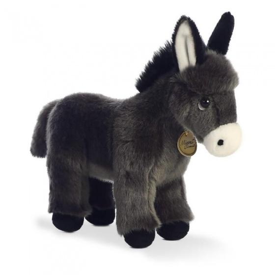 Aurora knuffel Mini Yoni ezel veulen grijs 28 cm