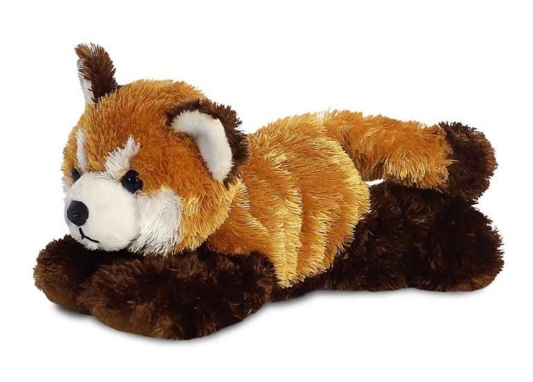 Aurora knuffel rode panda 20,5 cm bruin