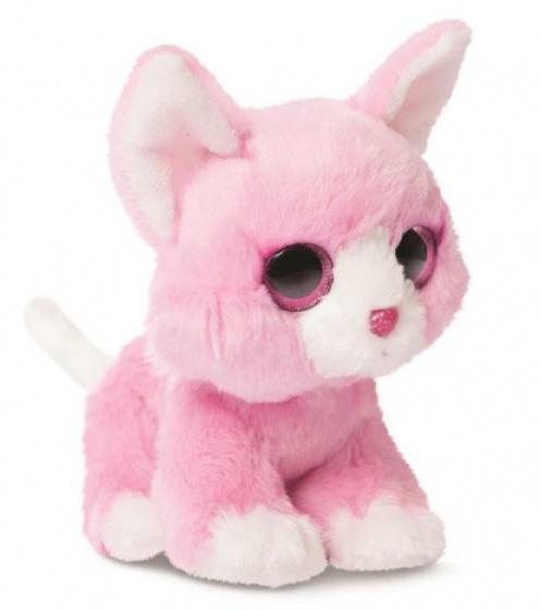 Aurora knuffelkat Bon Bon roze 18 cm
