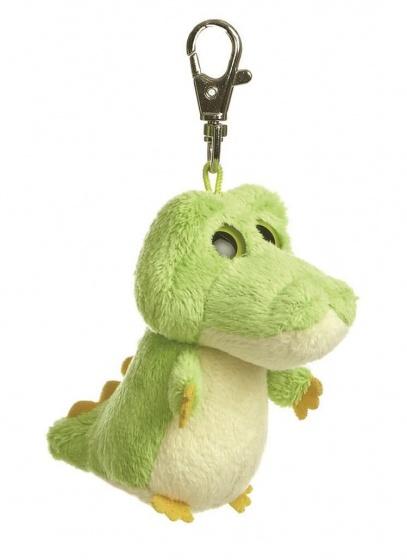 Aurora pluchen sleutelhanger krokodil 7,5 cm groen