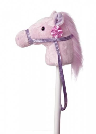 Aurora stokpaard met geluid 94 cm roze
