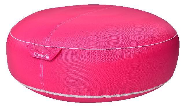 avenli Opblaasbare poef 98 x 38 cm roze