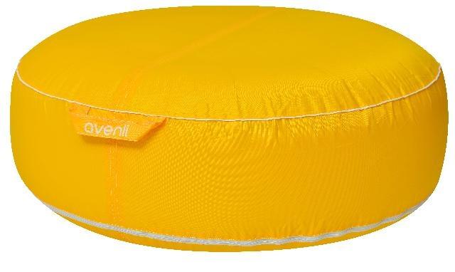avenli Opblaasbare poef 98 x 38 cm geel
