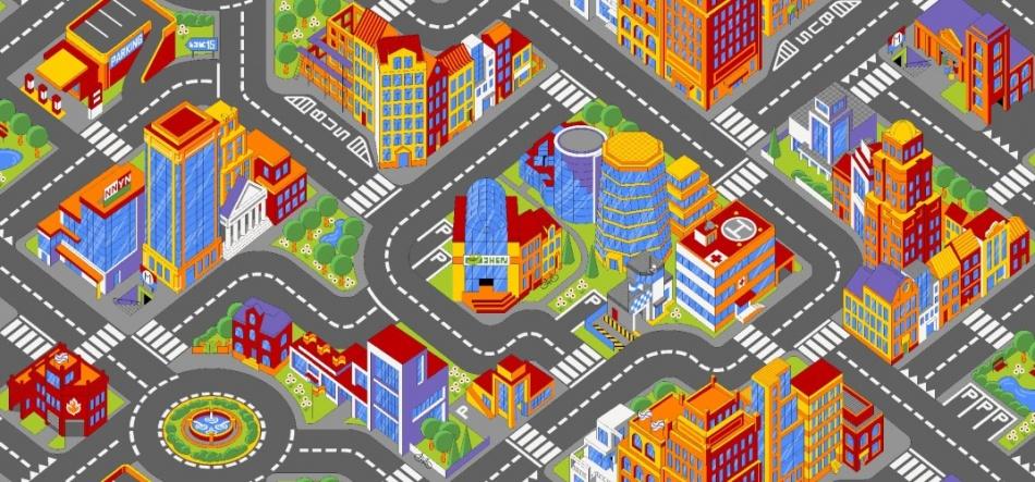 AW Verkeerskleed Grote Stad 95 X 200 cm