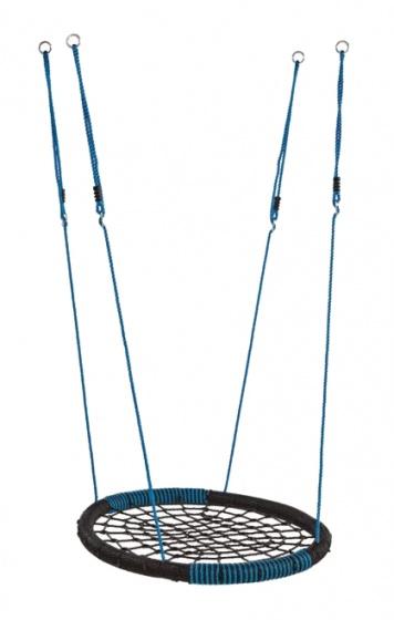 KBT nestschommel 'Oval' PP zwart-blauw PCE