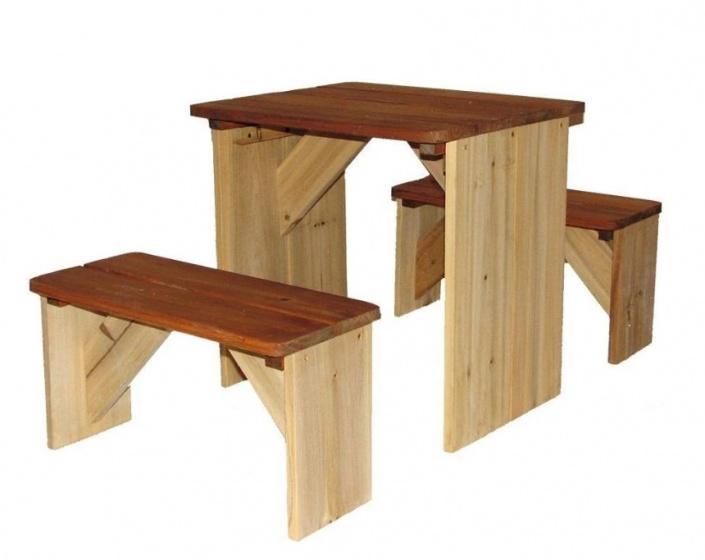 AXI picknicktafel ZidZed 45 x 80 x 45 cm blank