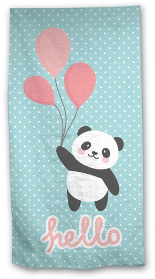Aymax badlaken Panda 140 x 70 cm lichtblauw kopen