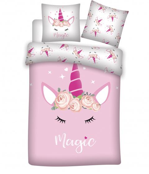 Aymax dekbedovertrek Unicorn 200 x 200 cm katoen roze kopen