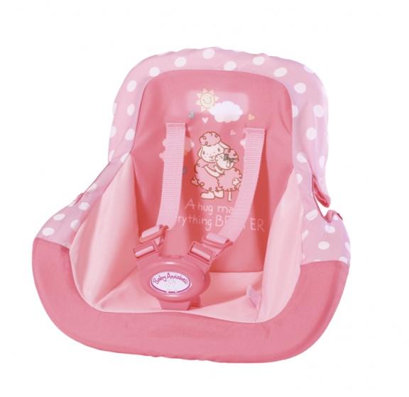 Baby Annabell autostoel roze geschikt voor pop tot 43 cm