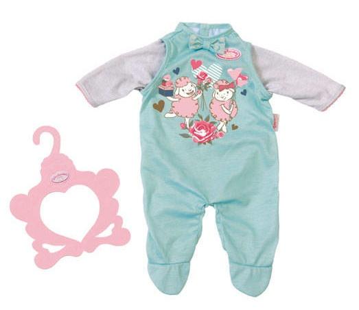 Baby Annabell kledingset blauw 2 delig 43 cm