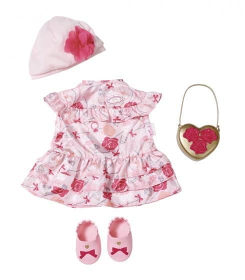 Baby Annabell kledingset Deluxe voor pop tot 43 cm roze 4 delig