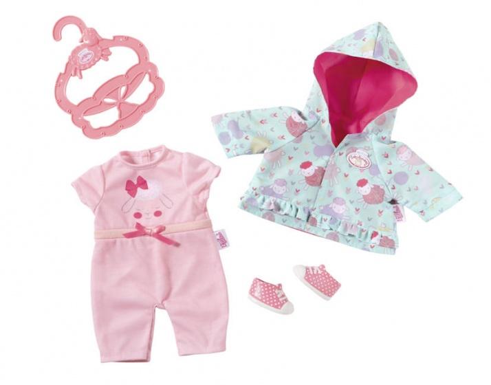 Baby Annabell kledingset voor pop tot 36 cm roze-blauw 3 delig