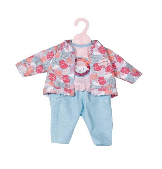 Baby Annabell kledingset voor pop van 43 cm roze-lichtblauw
