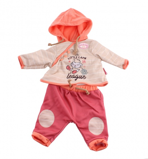 Baby Annabell kledingset voor pop van 46 cm beige-oranje 2 delig