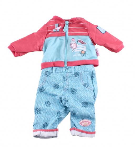 Baby Annabell kledingset voor pop van 46 cm blauw 2 delig