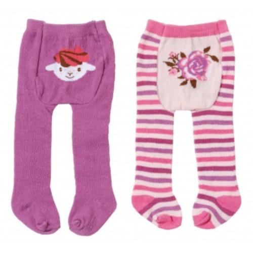 Baby Annabell maillot 2 stuks paars en streepjes 22 cm