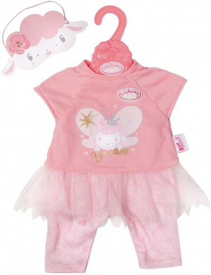 Baby Annabell poppenpyjama Schapenelfje roze 2 delig