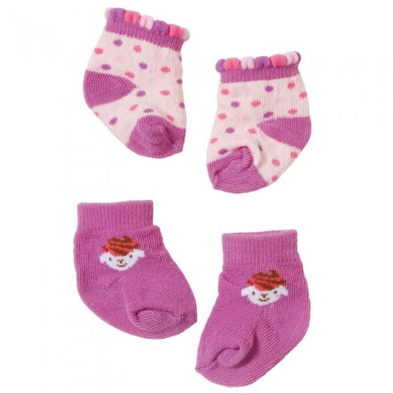Baby Annabell poppensokjes voor pop tot 46 cm paars