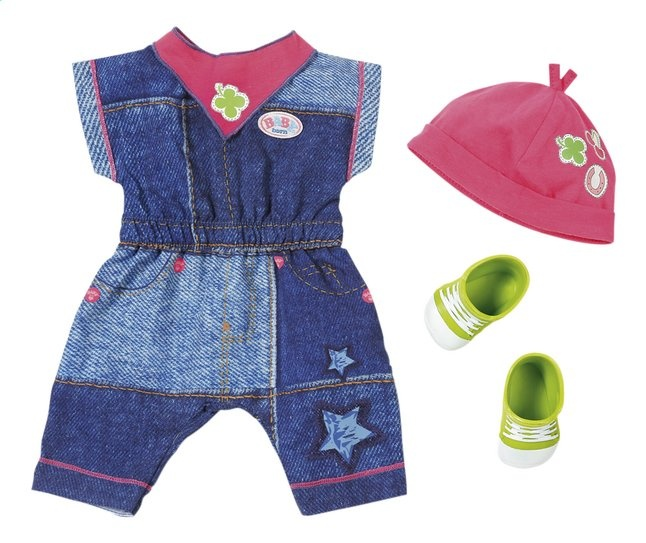 39b9076692dc79 BABY born deluxe clothing set with shoes green - Internet-Toys