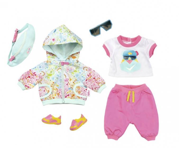 BABY born kledingset voor pop tot 43 cm roze-turquoise 6 delig