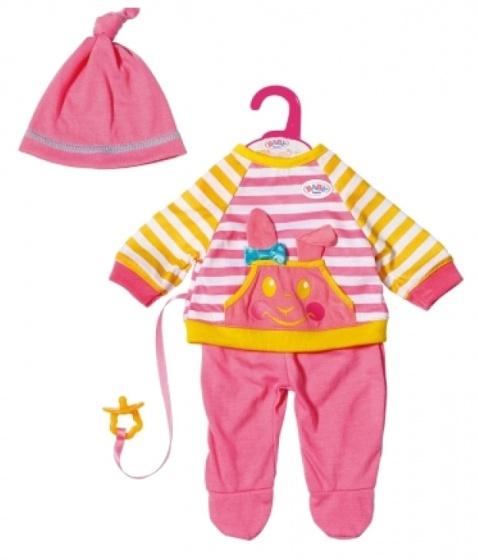 BABY born kledingset Trendy meisjes 36 cm roze-geel 5 delig
