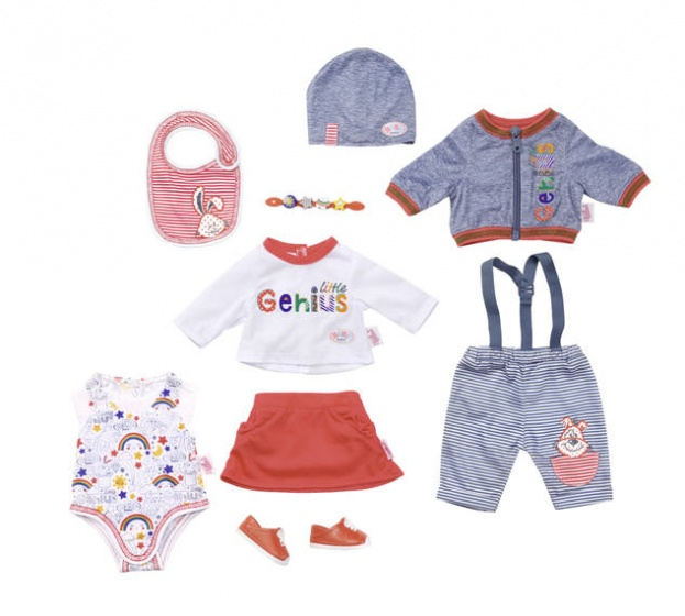 BABY born mix en match set rood-blauw 9 delig