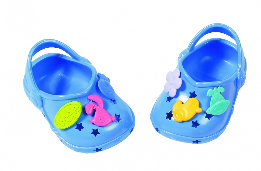 Baby Born Shoes With Funny Pins 43 Cm Dark Blue Internet Toys