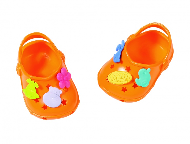 Baby Born Shoes With Funny Pins 43 Cm Orange Internet Toys