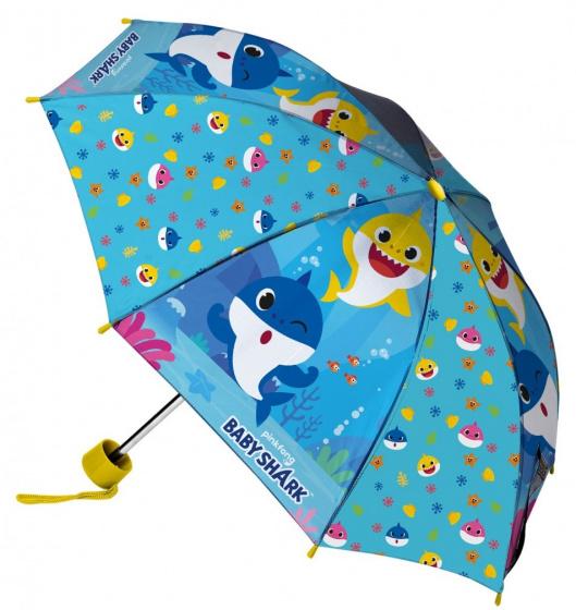 Pinkfong kinderparaplu Baby Shark junior 80 cm polyester blauw