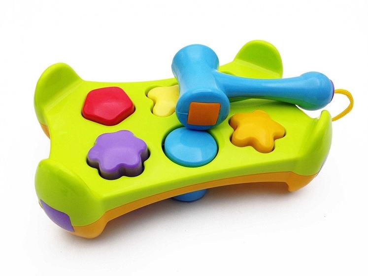 Baby Toys hamerbank 8 delig groen