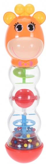 Baby Toys rammeltoren giraffe junior 20 cm oranje