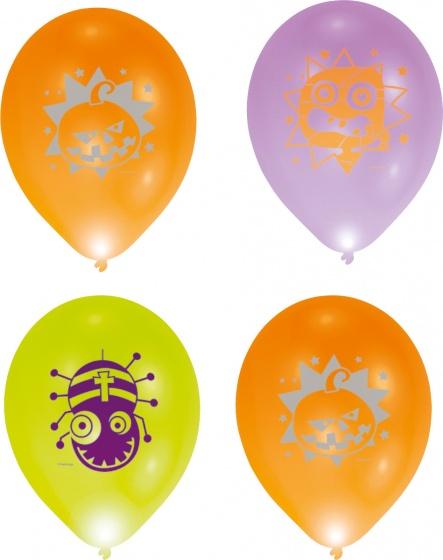Balloominate ballonnen met led verlichting Halloween 28 cm 5 stuks