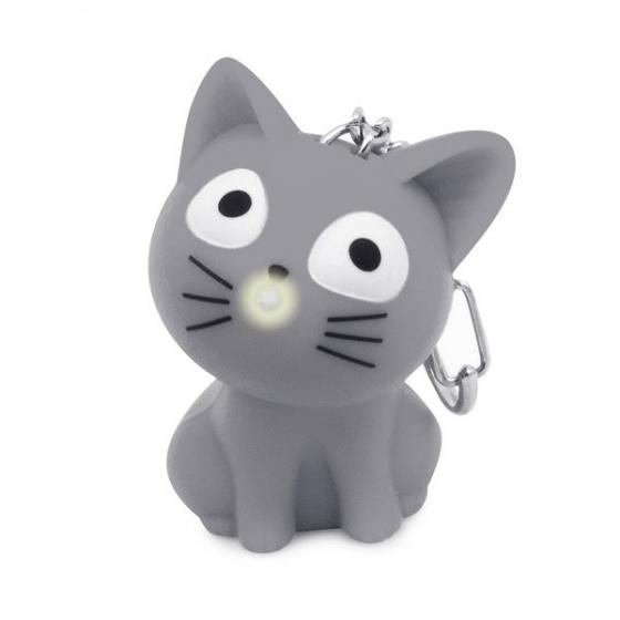 Balvi sleutelhanger Katy junior 5,5 cm kunststof grijs